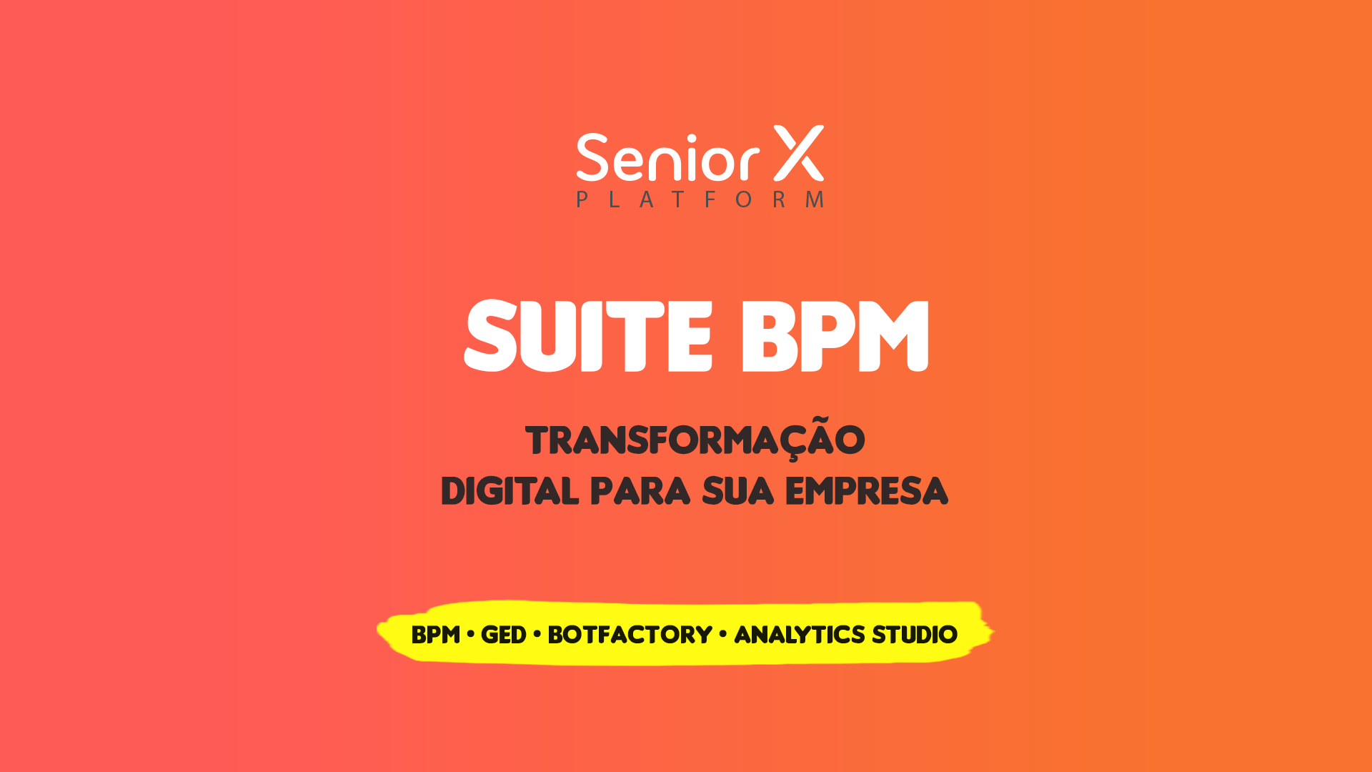 Suite BPM: drag and drop no GED e menu na área de trabalho do BPM