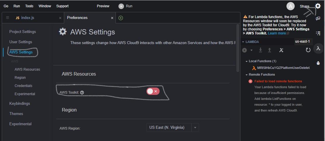 AWS Toolkit Cloud9